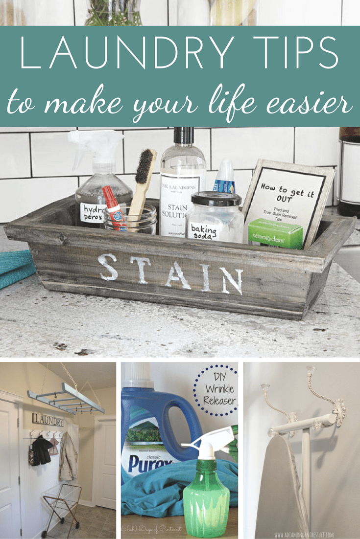 16 laundry tips to help you clean difficult to wash items, update your laundry room, or tackle tough stains via @nmburk