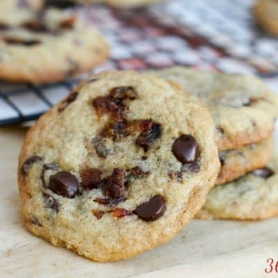 chocolate chip cookie with bacon chunks