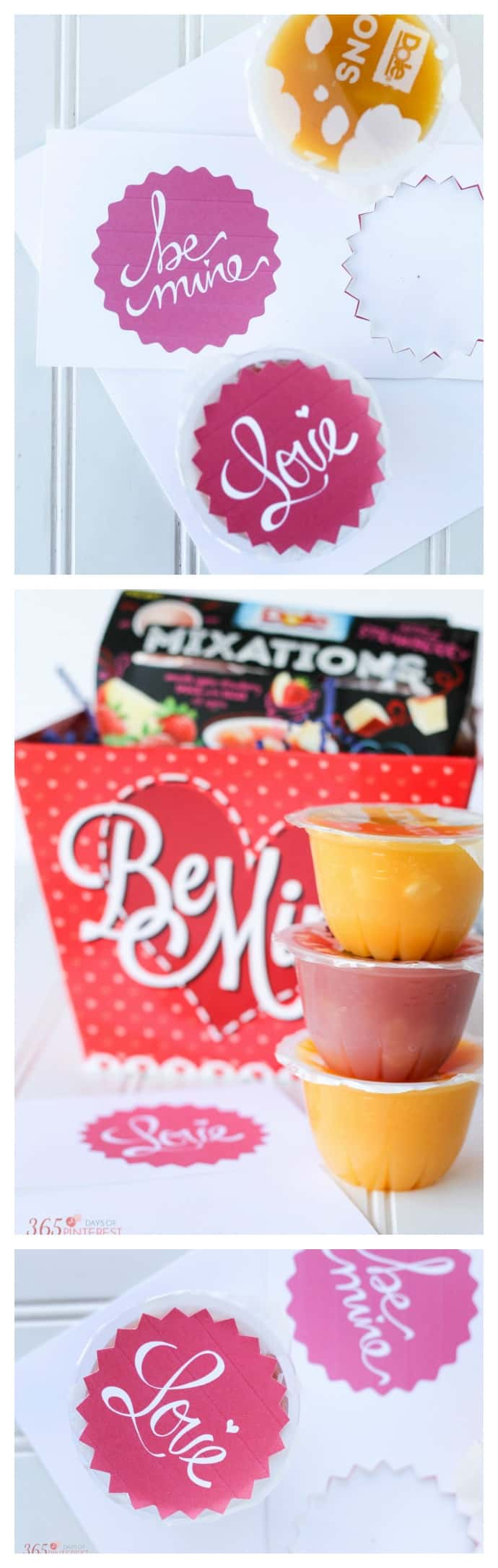 Share a fun and healthier Valentine's Day treat with these printable fruit cup toppers! Perfect for class parties. applesauce | printable  via @nmburk