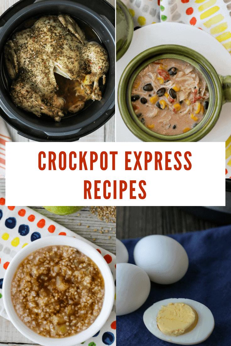crockpot express recipes collage