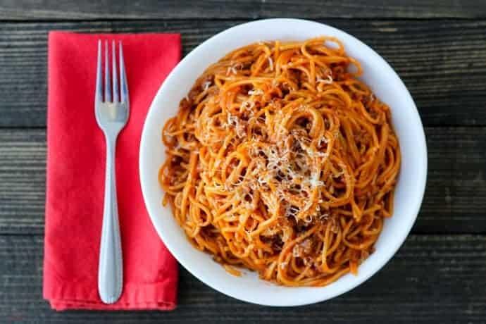 Crockpot Express Spaghetti