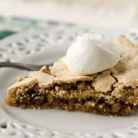 Also known as Ritz Cracker Pie or Soda Cracker Pie, this simple Mystery Pie yields a crispy shell and nutty, rich filling.