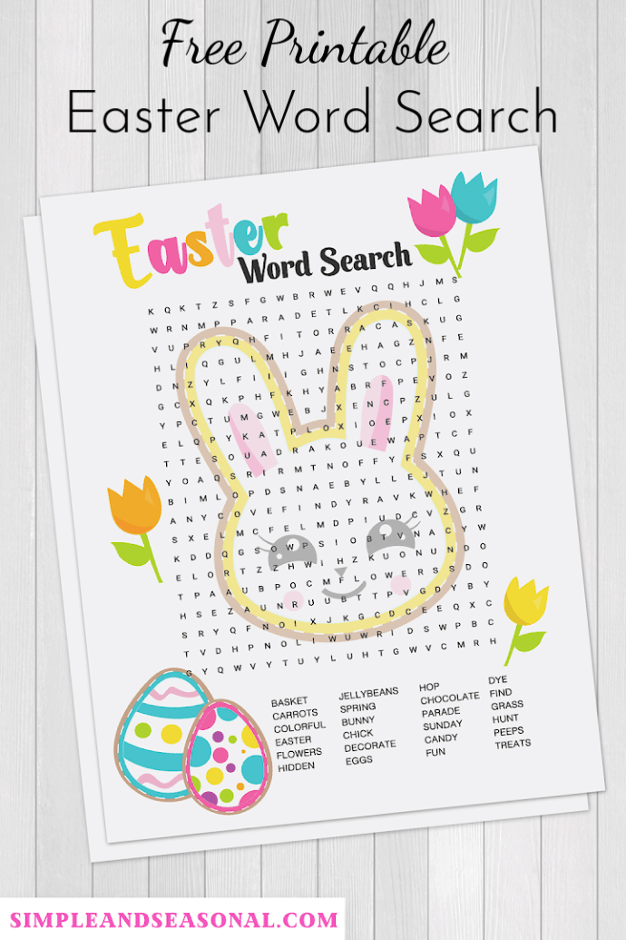 Celebrate Easter with this colorful (free) Easter Word Search! It's good for your brain and fun for kids and grown-ups alike! Plus get 4 more great ideas for Easter fun. via @nmburk