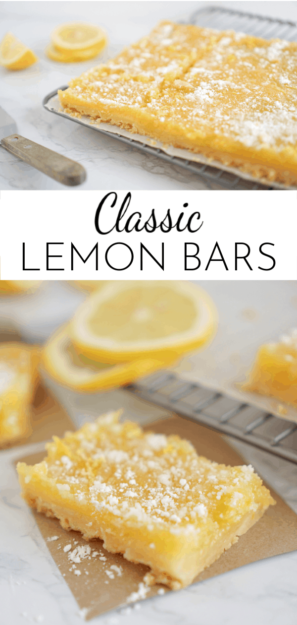 The perfect combination of tart and sweet, Classic Lemon Bars are a great springtime dessert! Serve them with Mother's Day brunch or a baby shower! via @nmburk