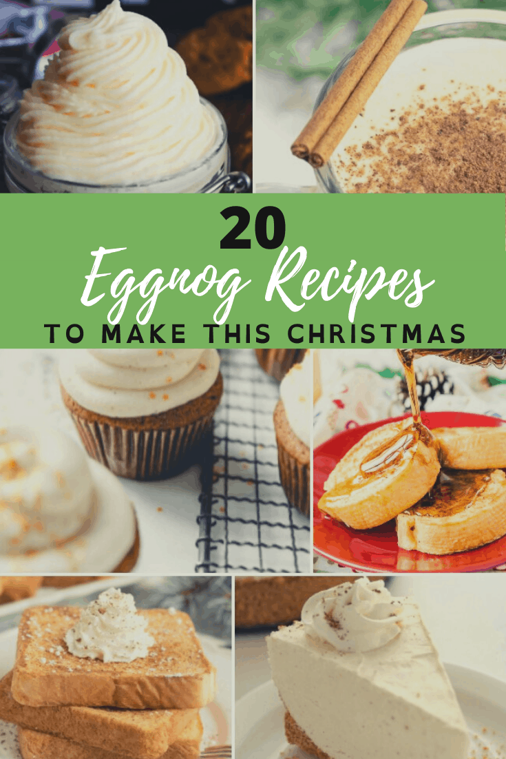 Don't just drink the eggnog this Christmas-make one (or all) of these delicious eggnog recipes and really enjoy the flavors of Christmas! via @nmburk