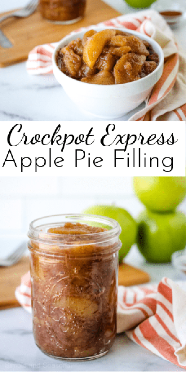 Perfect for pies, crisps, cobblers and dump cakes, Crockpot Express Apple Pie Filling is a fall favorite! via @nmburk