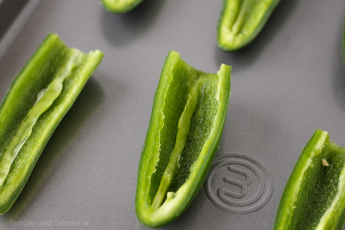 closeup of a jalapeno with the seeds removed