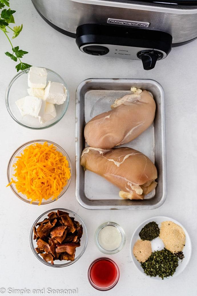 ingredients for slow cooker crack chicken