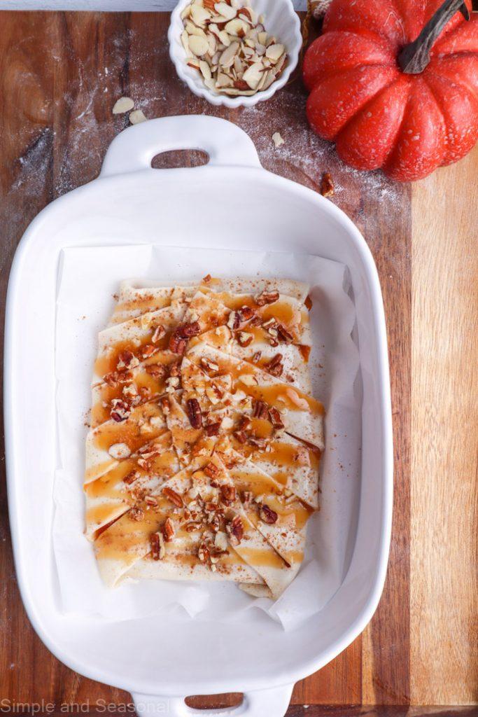 danish in baking pan