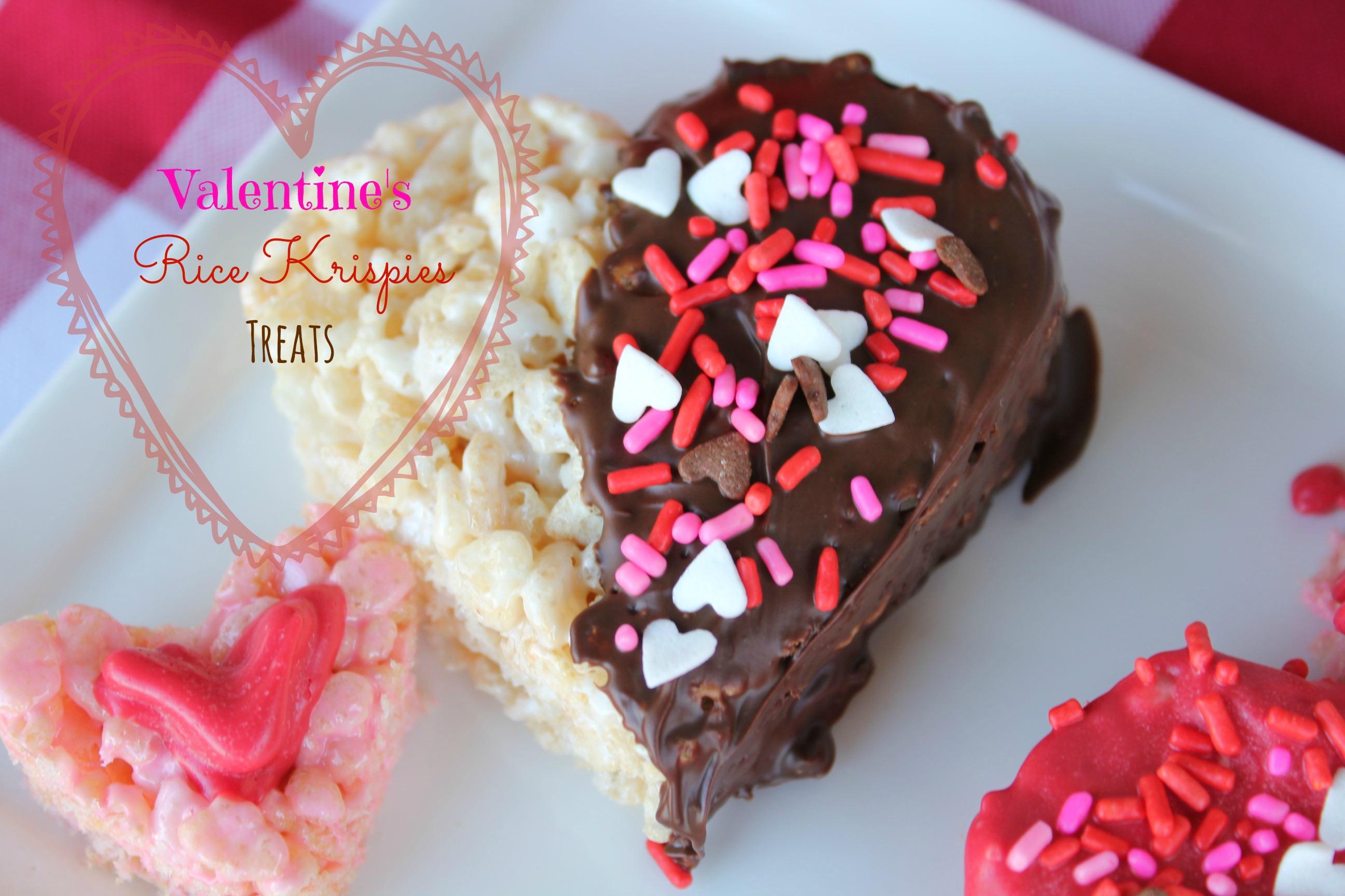 Rice Crispy Valentines