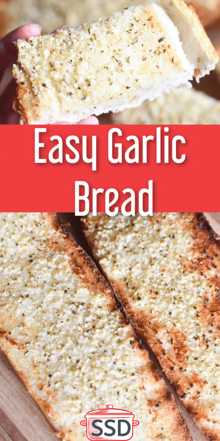 This is an easy garlic bread recipe that is the perfect side for many dishes #garlicbread #bread #homemadebread via @simplysidedishes89