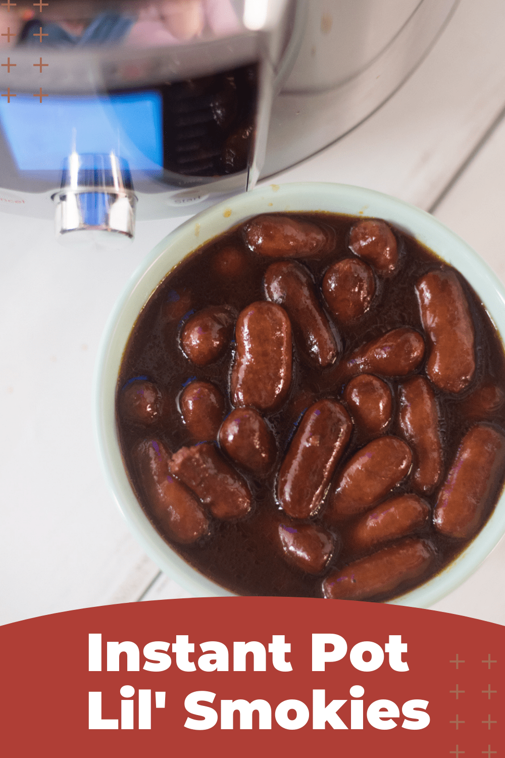 Instant Pot Lil' Smokies in BBQ sauce and Grape Jelly - SUPER easy and delicious appetizer. via @simplysidedishes89