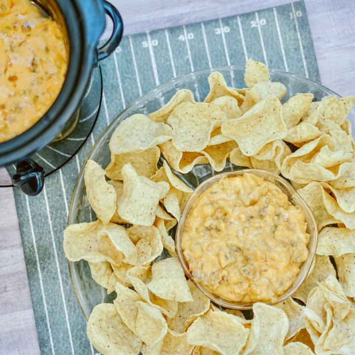 Easy Crockpot Cheese Dip with Sausage