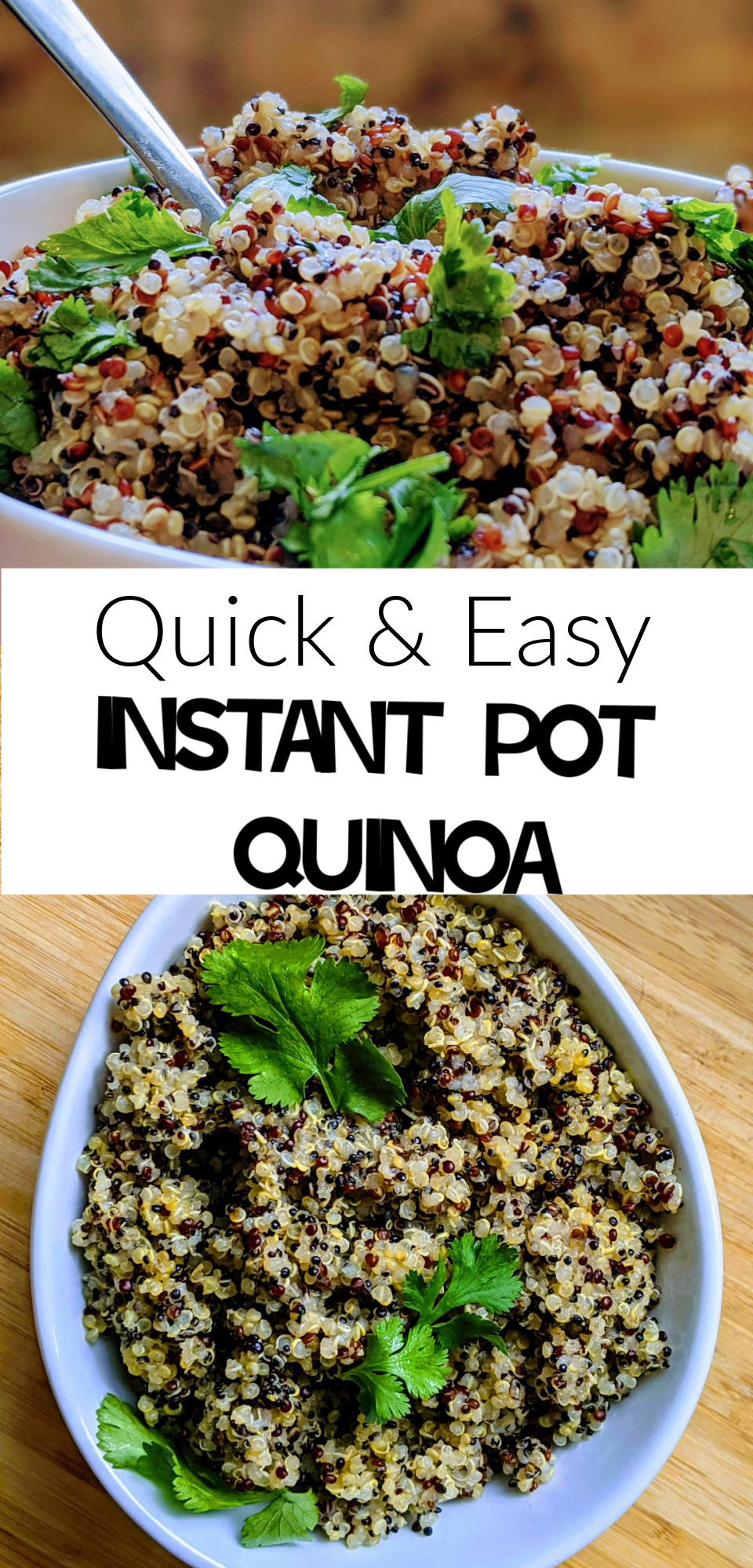 This is a quick and easy Instant Pot Quinoa recipe. Quinoa is a wonderful side dish and substitutes for rice, and it's never been easier than when made in the Instant Pot! via @simplysidedishes89