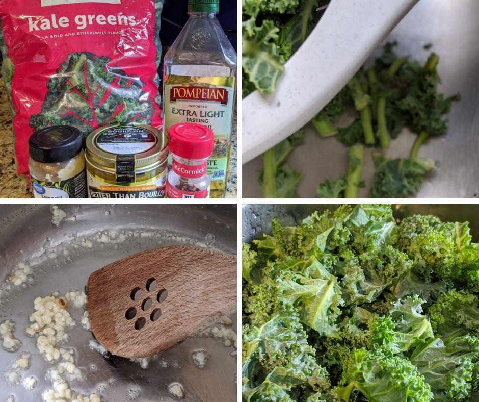 instant pot kale ingredients