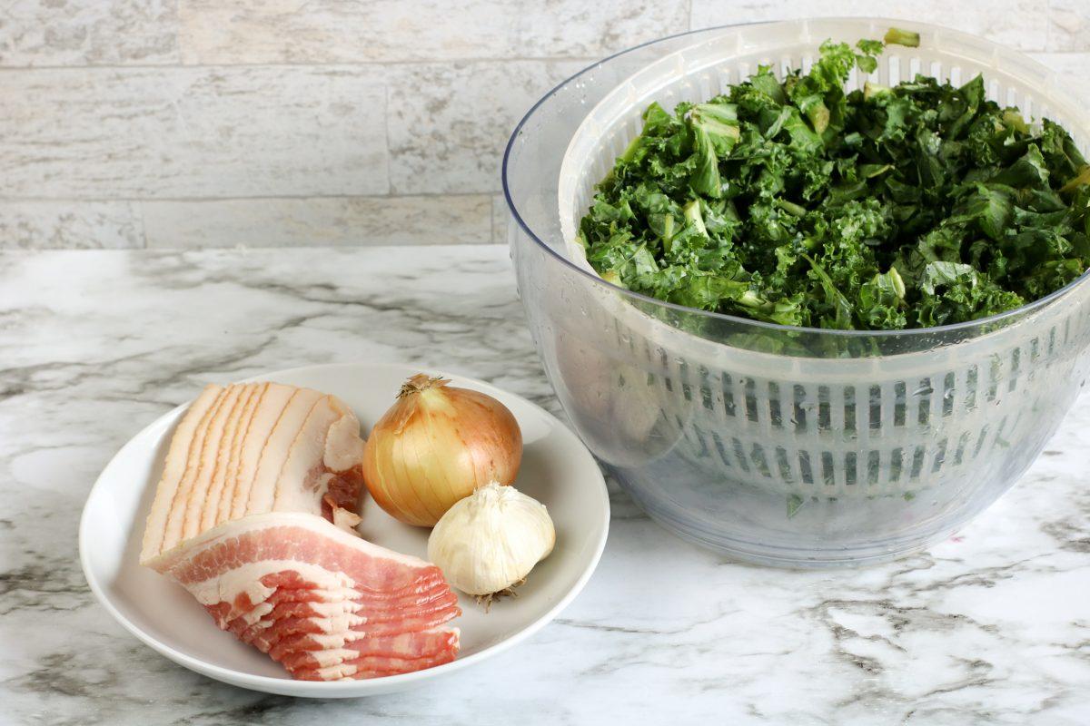 garlic and bacon kale