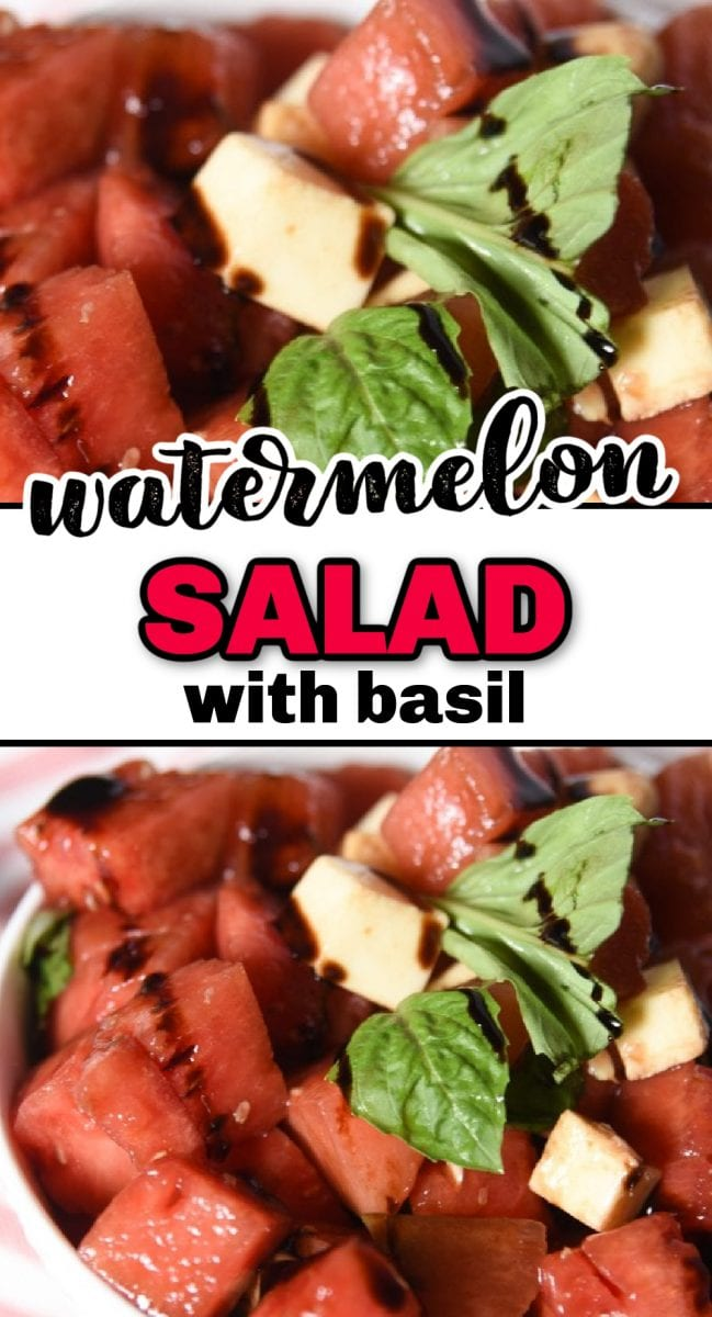 What says summertime more than a delicious watermelon salad? This refreshing salad is easy to throw together, and the flavors of the watermelon are enhanced with basil, mozzarella, and balsamic vinegar. This is a great way to use up some extra watermelon from your last BBQ!) via @simplysidedishes89