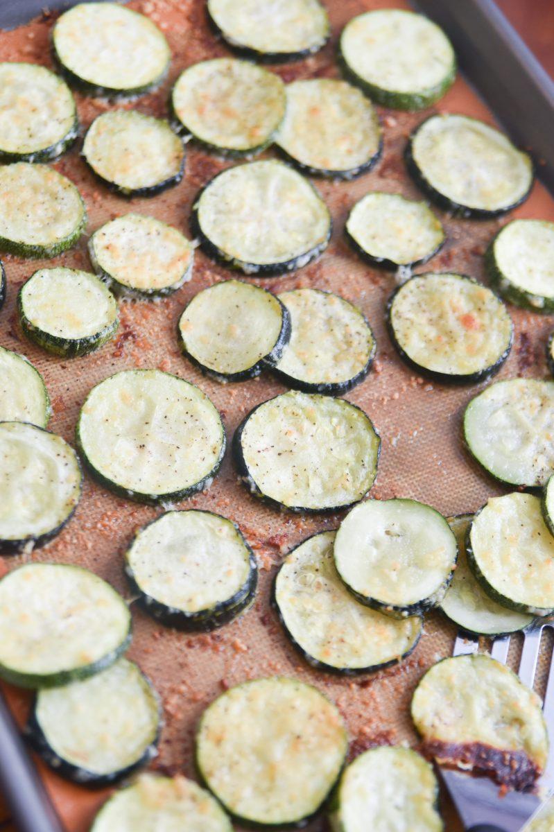 zucchini on a pan
