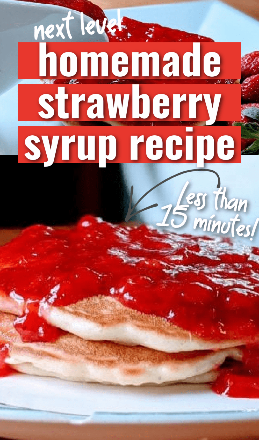There are few things more delightful than a fresh strawberry syrup. It's a great alternative to traditional maple syrup or processed store syrups, and it can be made in a snap. It's perfect for pancakes, waffles, biscuits, and even ice cream. If you have some fresh berries you are dying to make something with, this is a great way to do just that. via @simplysidedishes89