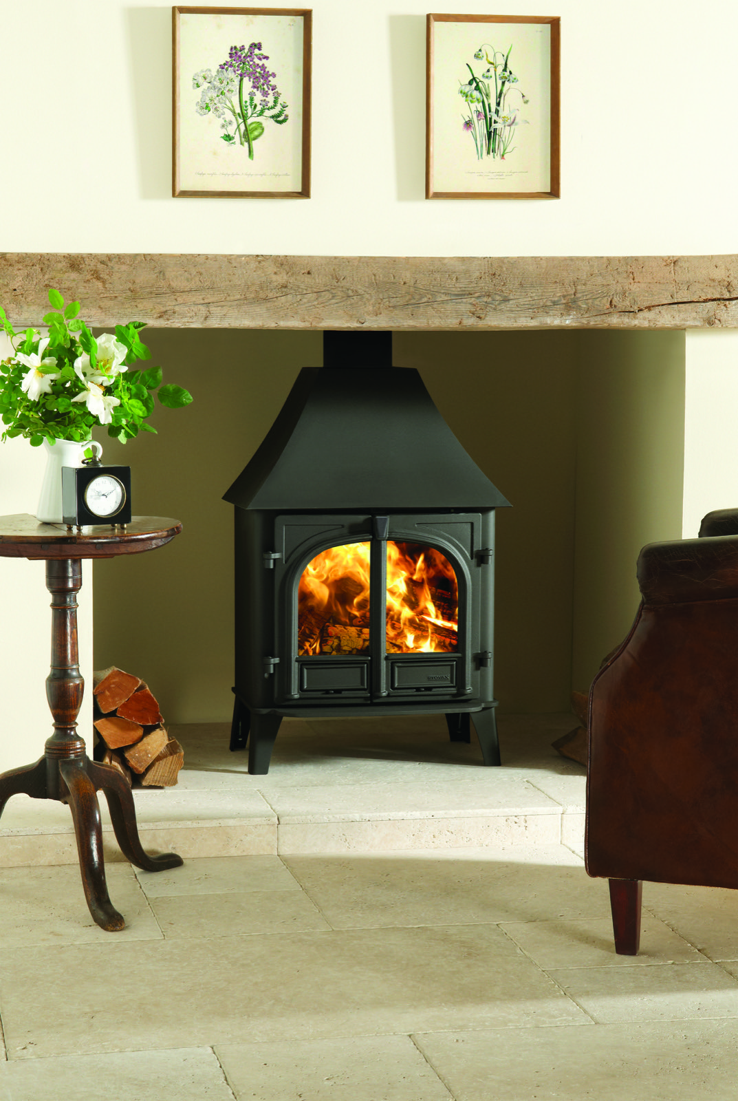 Stovax Stockton 8 Wood Burning High Canopy Two Door Stove