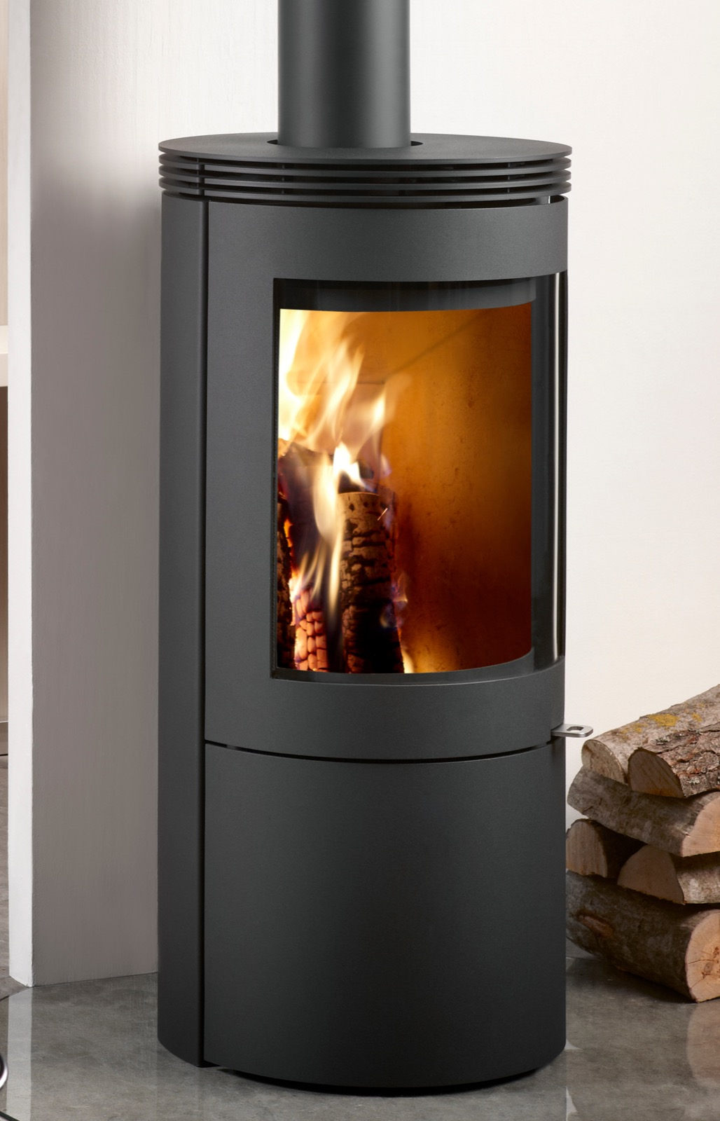 Westfire Uniq 27 Se Convection Wood Burning Stove In Black