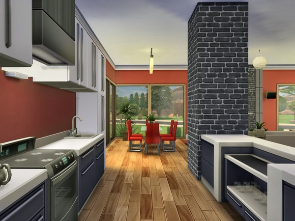 The Sims Resource Modern Oasis Residential Lot By Chemy