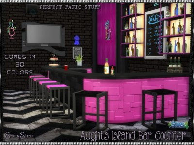 Aughts Island 'Bar' Counter at SrslySims » Sims 4 Updates