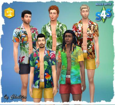 Island Life Hawaiian shirt M by Chalipo at All 4 Sims ...