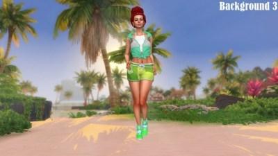 Island Living Landscape CAS Backgrounds at Annett's Sims 4 ...
