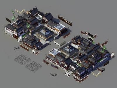 SimCity: Unreleased Japanese Edo-Period DLC Concept Art