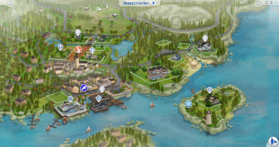 The Sims 4: World Map Replacements for ALL Worlds Now ...