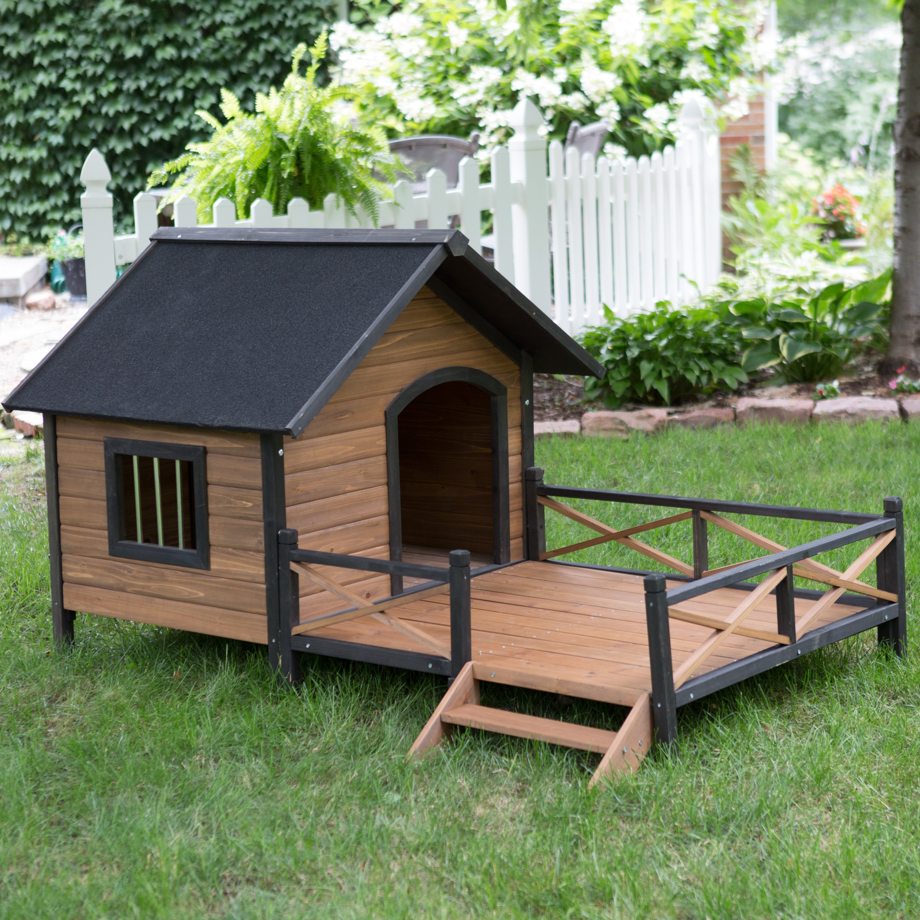 Luxury Wooden Dog House Non Warping Patented Wooden