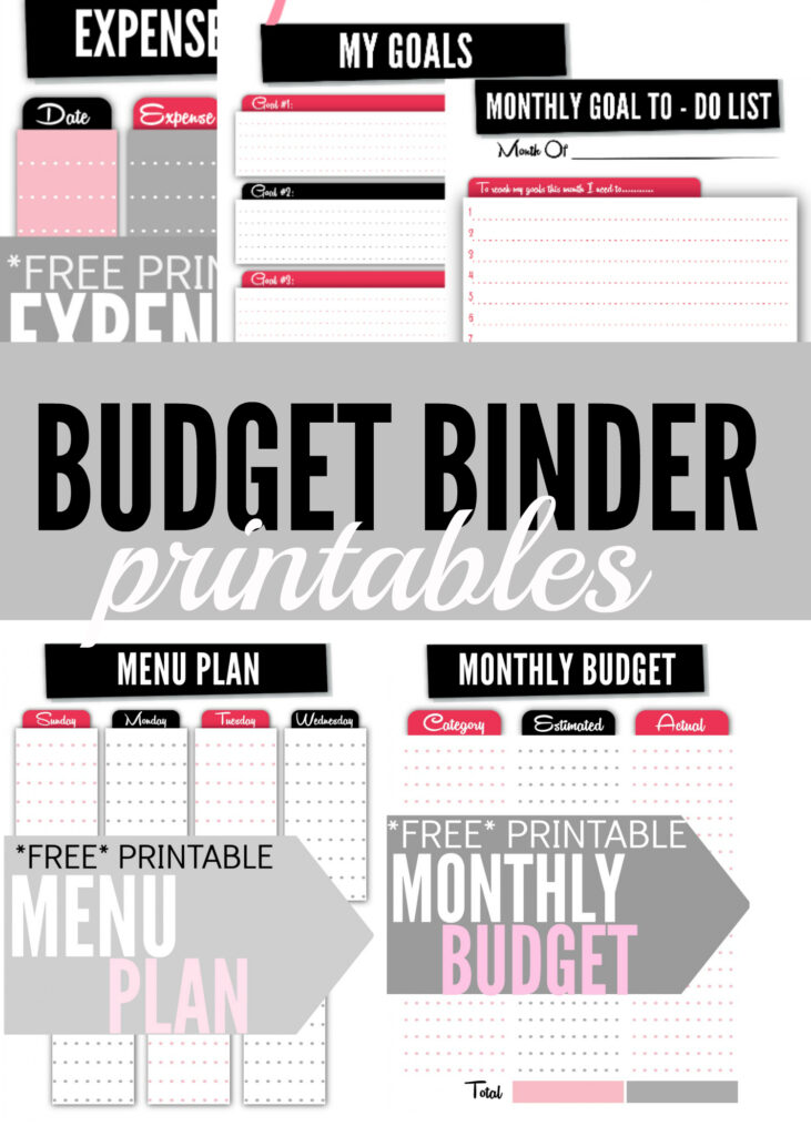 Free Monthly Planner Printables Finance