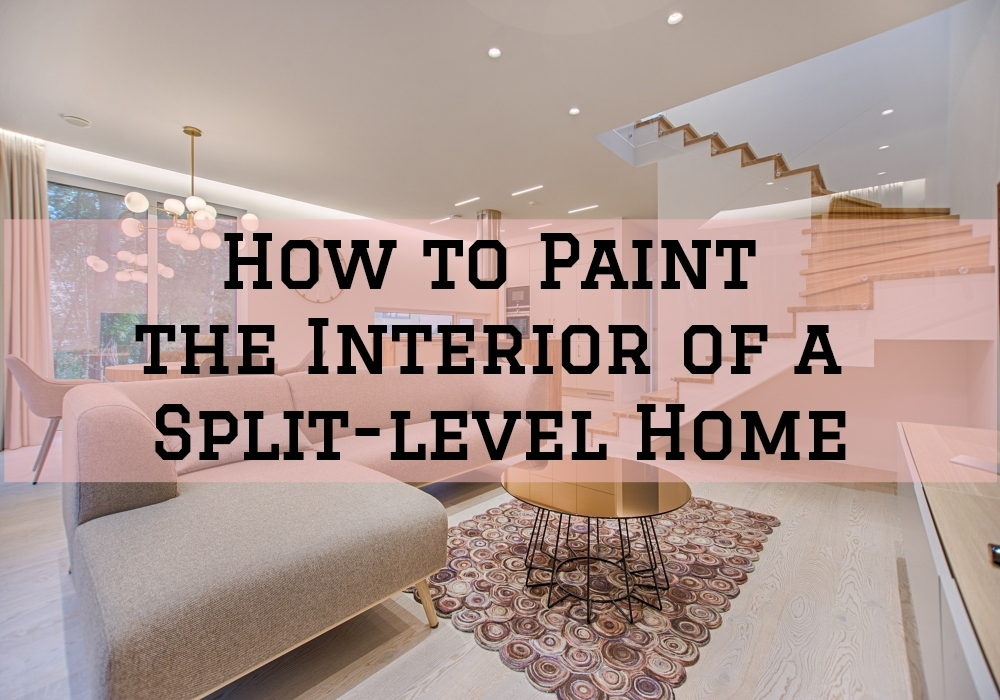 How To Paint The Interior Of A Split Level Home Sir Paints A Lot | Split Level Entry Stairs | Wood | Half Wall | Stairwell | Raised Bungalow | Interior