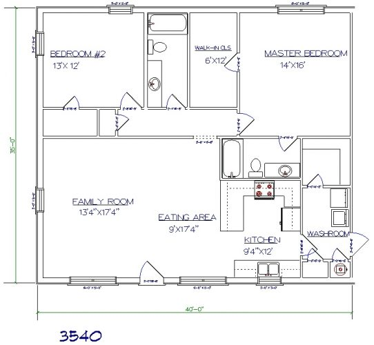 3 Bed 2 Bath House Plans