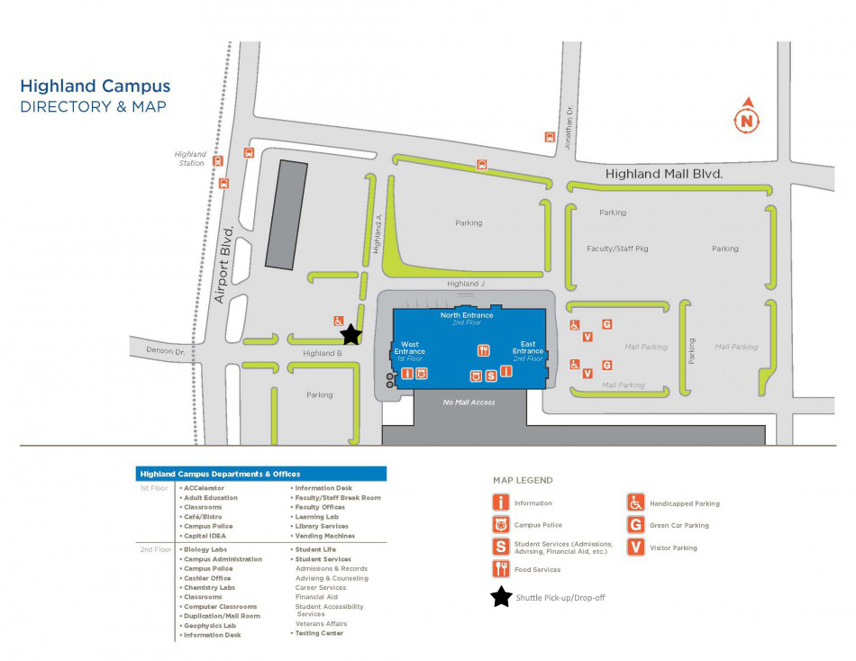 Acc Round Rock Campus Map