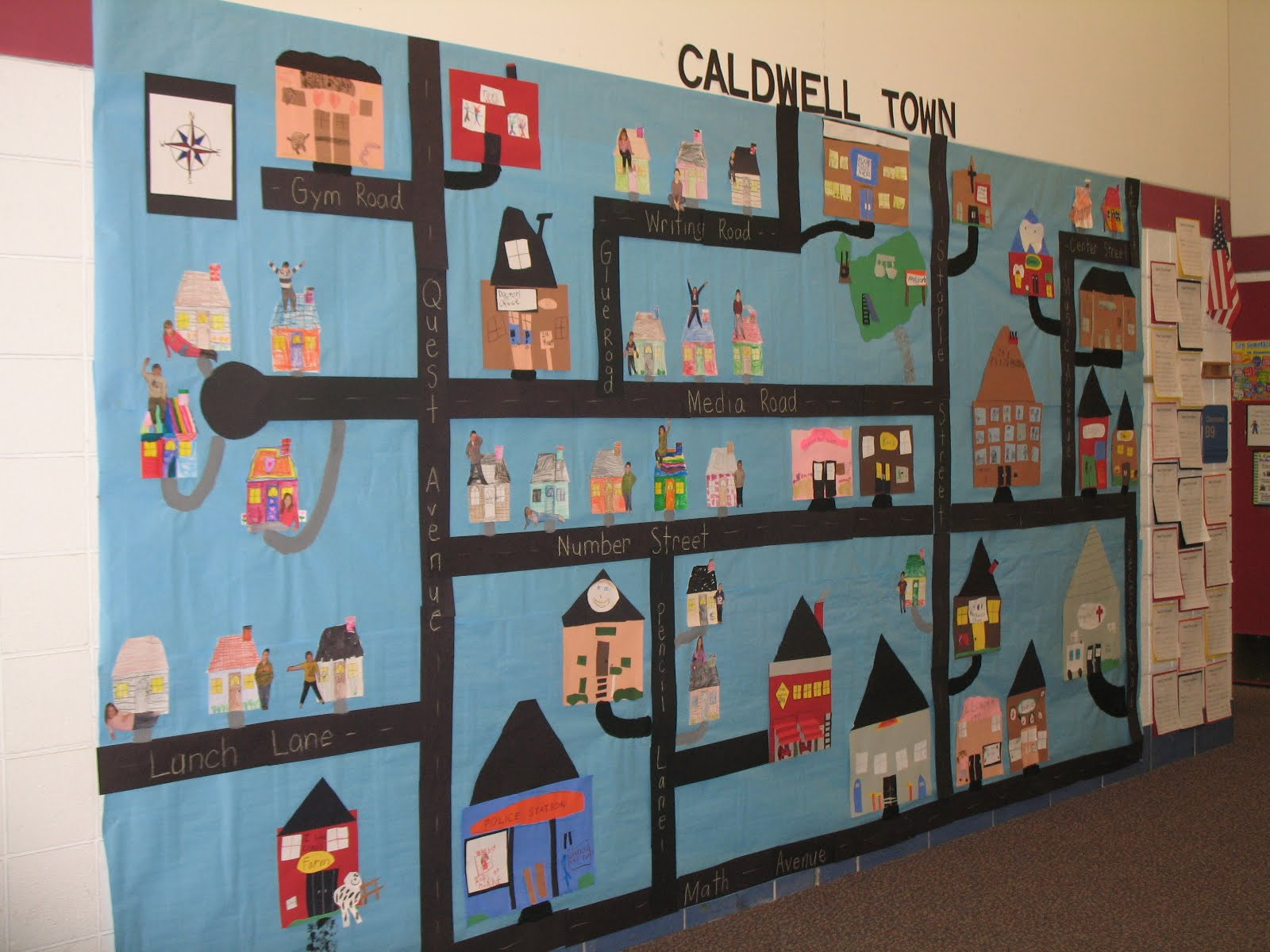 Caldwell Town   Map Project   Mrs  Caldwell s 1st Grade Class Caldwell Town   Map Project