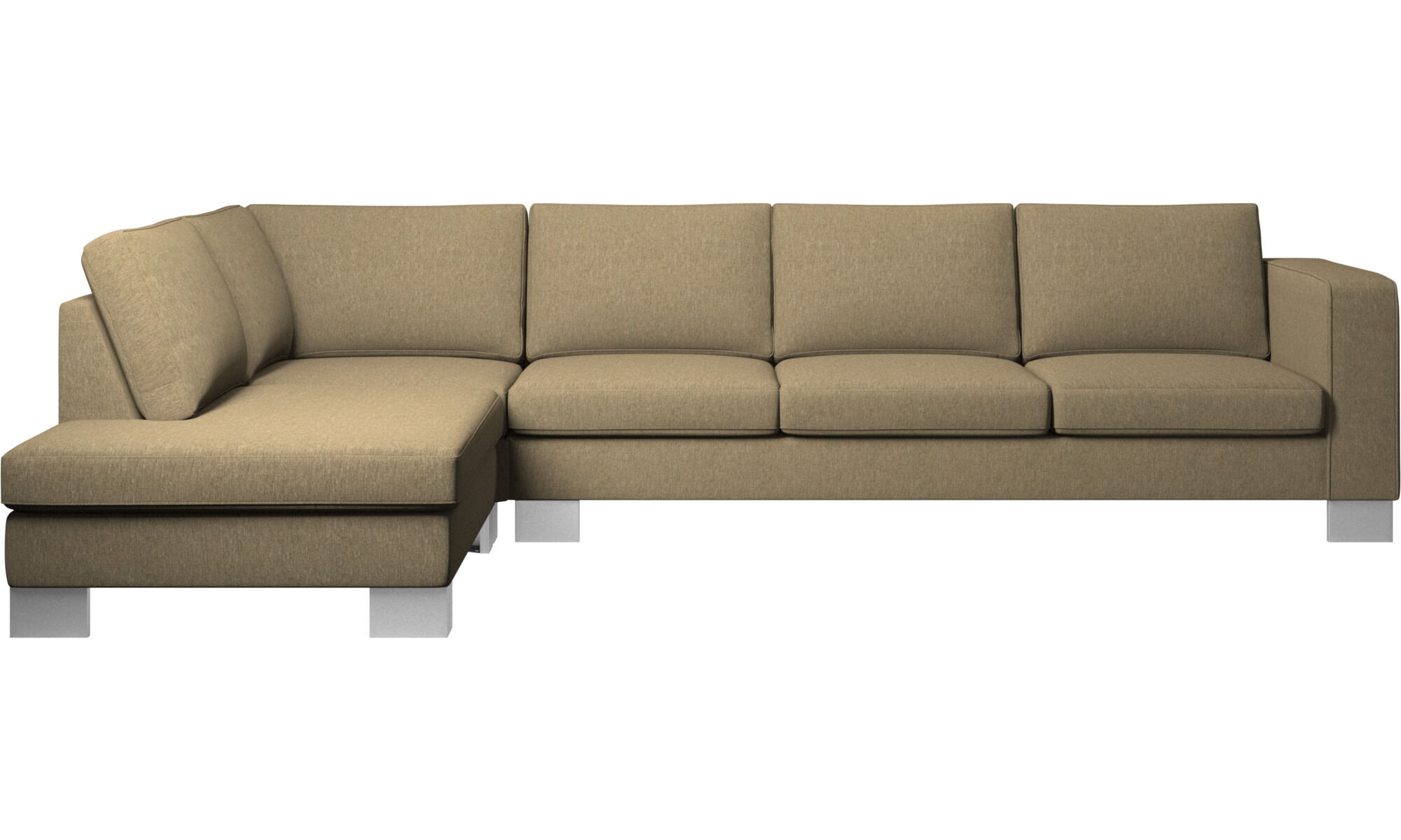 Contemporary Furniture   Modern Furniture   BoConcept Sofas with open end   Indivi 2 corner sofa with lounging unit   Green    Fabric