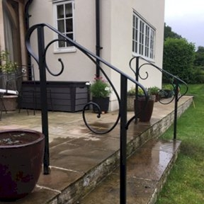 Gallery Sixpenny Forge | Garden Handrails For Steps | Modern Hand | Wooden | Free Standing | Solid Wood | Stair Railing