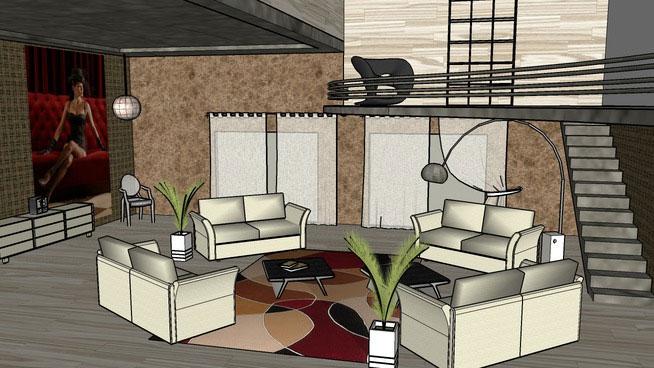 Sketchup Components 3d Warehouse Living Room Sketchup
