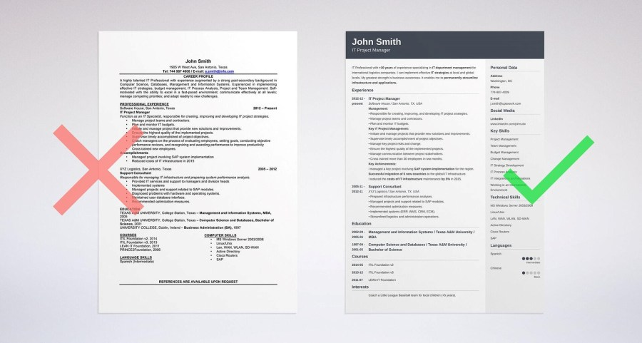What defines a perfect resume outline    Skillroads com a proper outline format photo