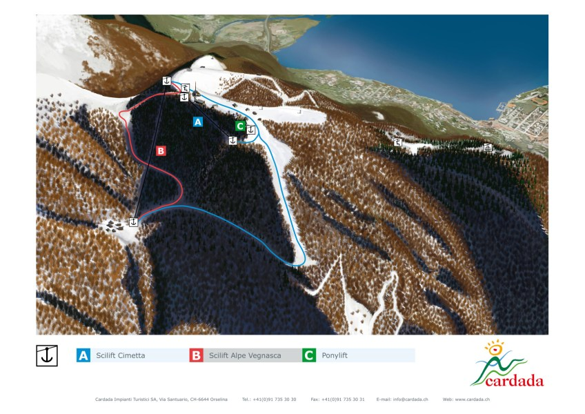Cardada  Locarno    SkiMap org Edit this map
