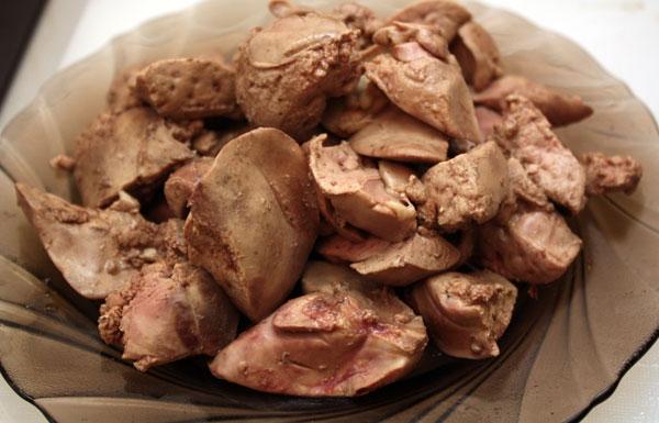how much cook chicken liver