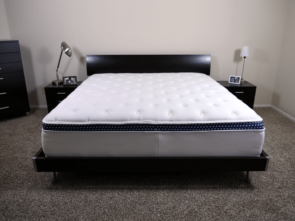 Best Mattress for Sex   Sleepopolis WinkBed mattress  King size  platform bed