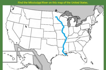 us map with mississippi river highlighted » Path Decorations ...
