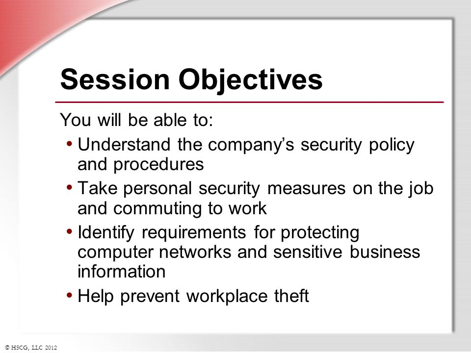 Personal Security Measures Workplace