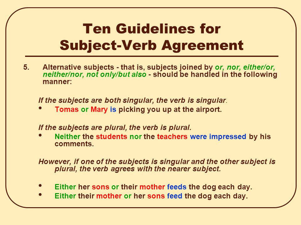 20 Rules For Subject Verb Agreement Images Agreement Letter Format