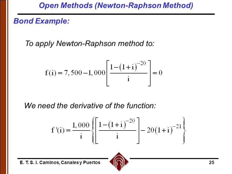 Examples Newtons Method