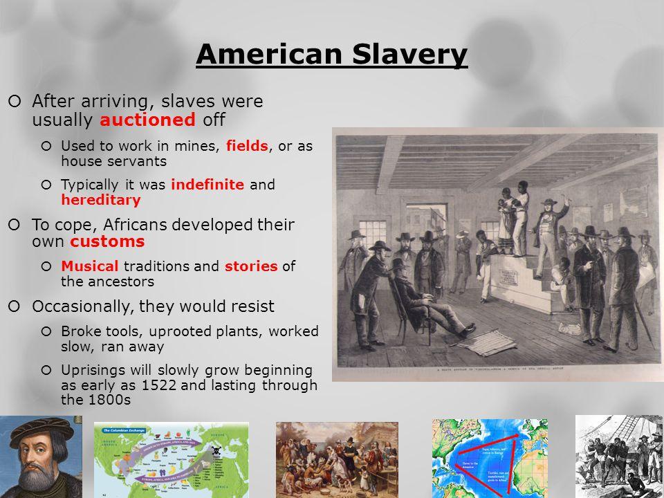 African American Slaves Food
