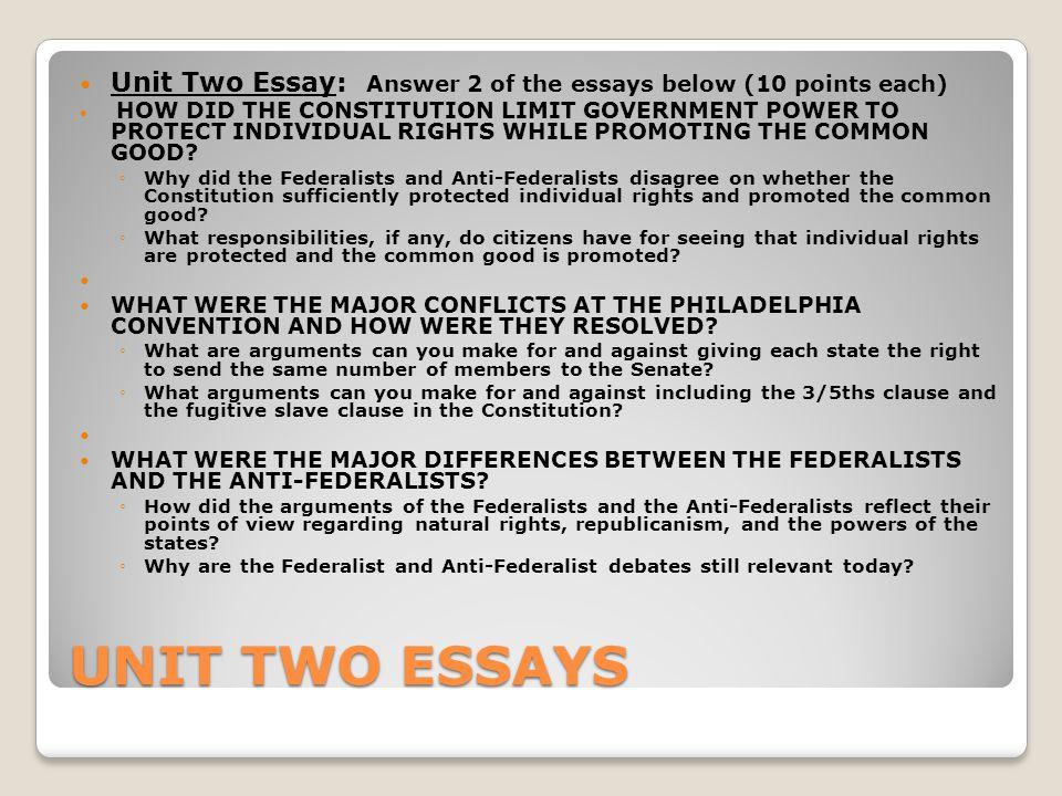Federalist Paper  Summary